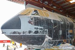 B-52 nose sanded