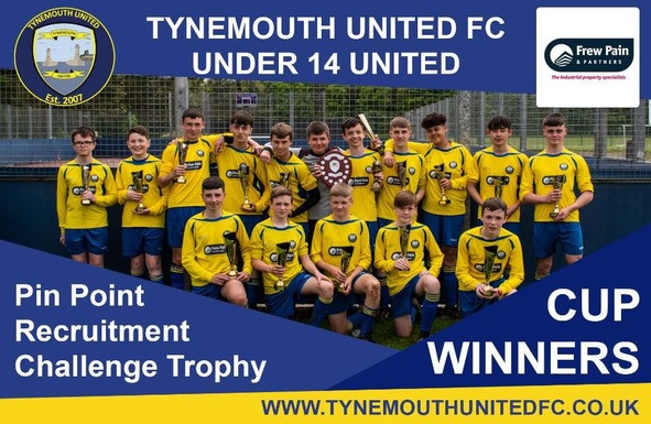 Frew Pain & Partners have been the proud Sponsors for Tynemouth United FC Under 14's for several years.   This weekend (Saturday 18th May 2019)  was the Cup Final between ????? and Tynemouth United FC .   We are delighted to confirm and congratulate Tynemouth United on their convincing 2:1 win, securing them as cup final winners.   Frew Pain & Partners are very proud of the whole team and the coaches / volunteers for all the hard work during the year, which as impressively paid off.   Good luck for the coming season Tynemouth United and we look forward to continuing to sponsor the club to much more success