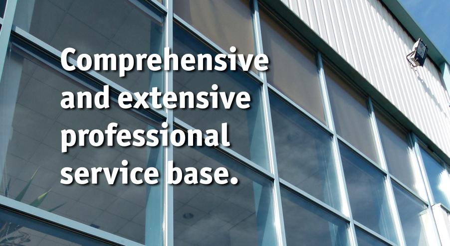 Extensive service base