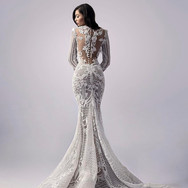 3D Lace trumpet with Illusion Back