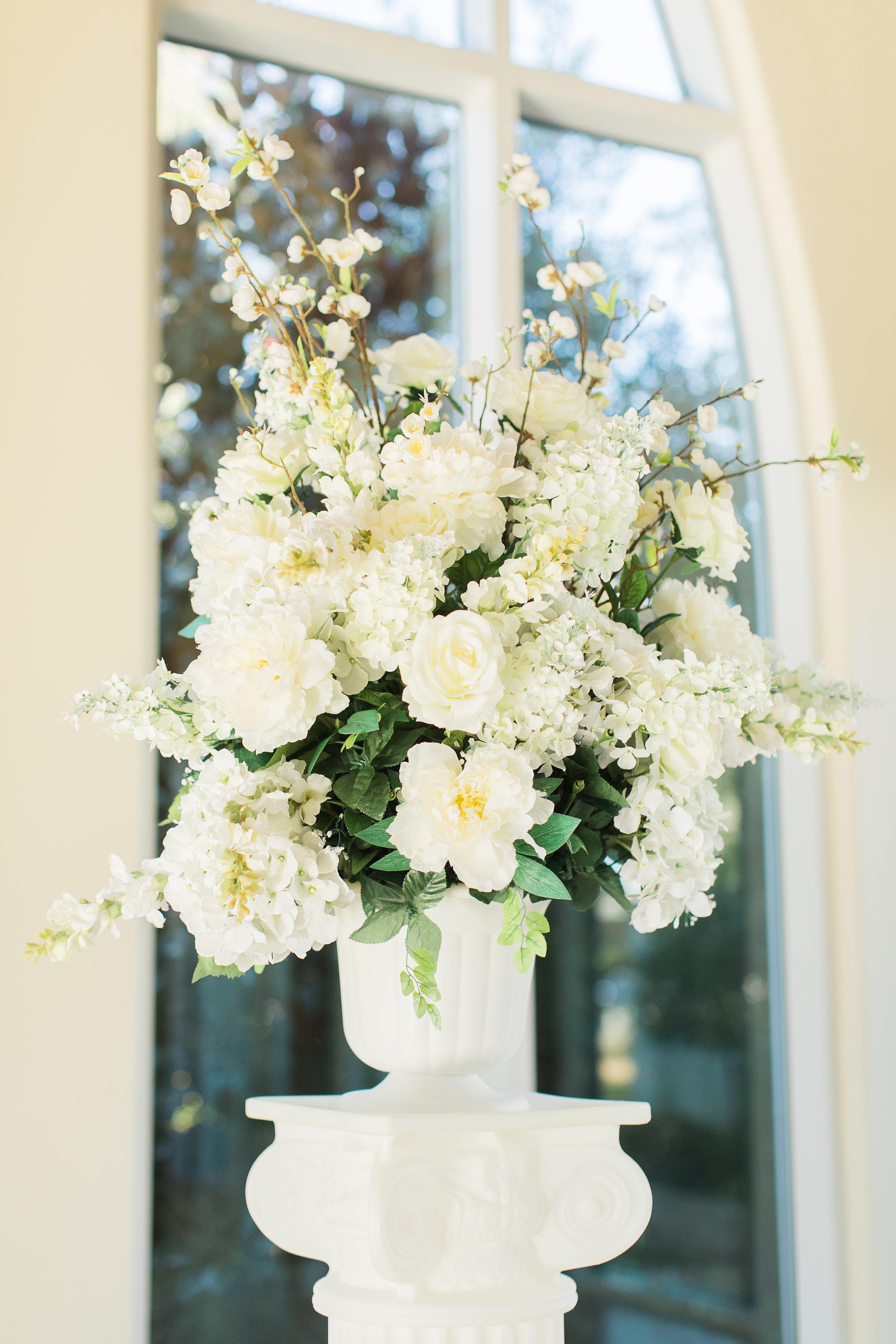 Chapel Silk Flower Arrangement