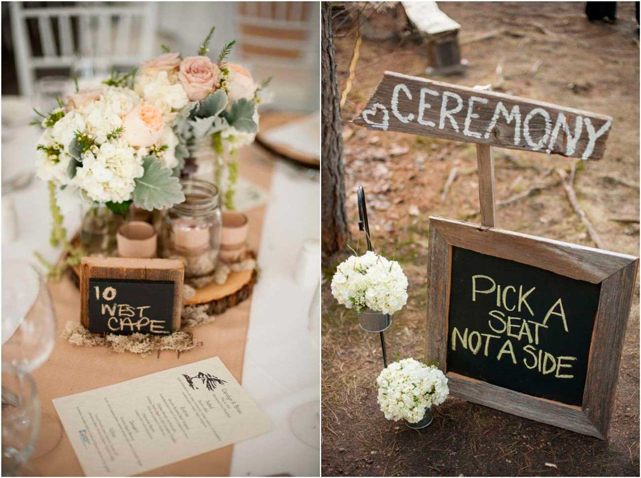 Simple-country-wedding-decorations-chalk