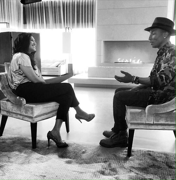 Interviewing Pharrell Williams