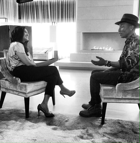 Interviewing Pharrell Williams