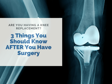 What you need to know for a successful knee replacement RECOVERY!