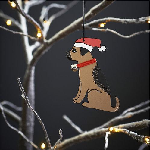 Border Terrier Christmas Tree Decoration