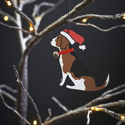 Beagle Christmas Tree Decoration