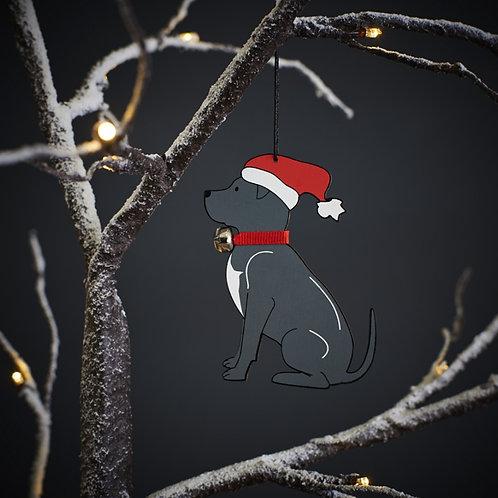 Staffordshire Bull Terrier Christmas Tree Decoration