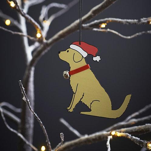 Golden Retriever Christmas Tree Decoration