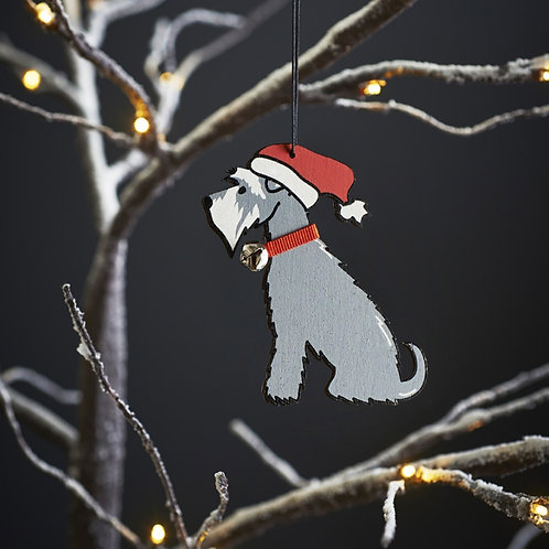 Schnauzer Christmas Tree Decoration