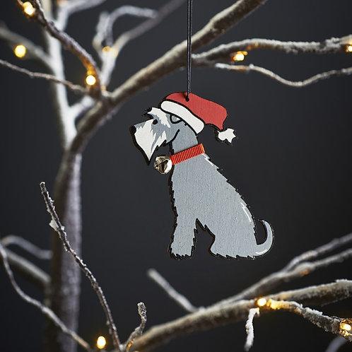 Schnauzer Christmas Tree Decoration