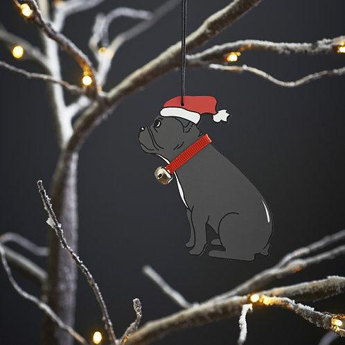 French Bulldog Christmas Tree Decoration