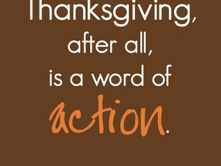 Thankful Is an Action Word