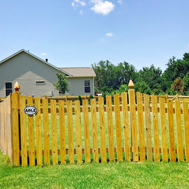 4' High Scalloped PTP Wood Picket