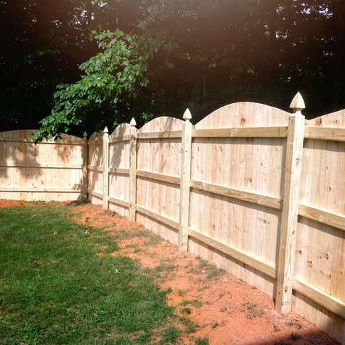 6' High Arched PTP Wood Privacy