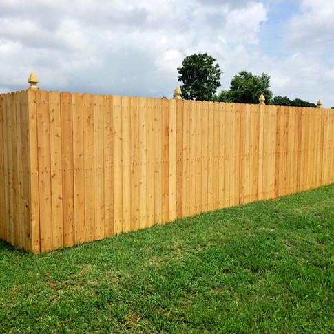 6' High Dog Ear Cedar Wood Privacy
