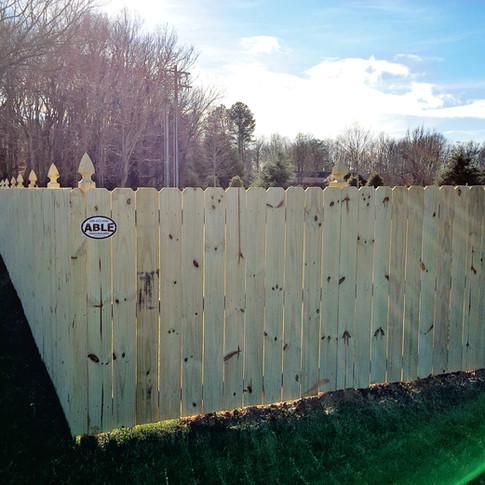 6' High Dog Ear PTP Wood Privacy