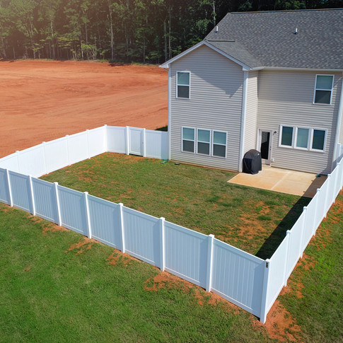 6' High ActiveYards Dogwood White Vinyl Privacy (Harbor Series)