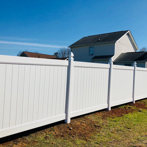 6' High ActiveYards Dogwood White Vinyl Privacy (Haven Series) with Gothic Caps