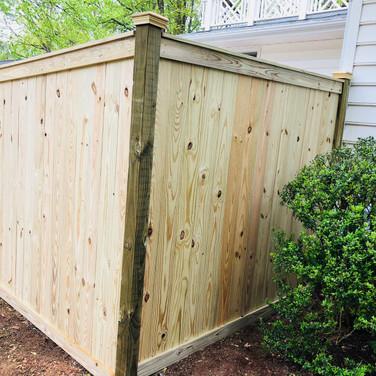 Custom Wood Dumpster Enclosure