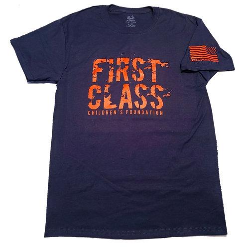 Distressed First Class Logo Tee