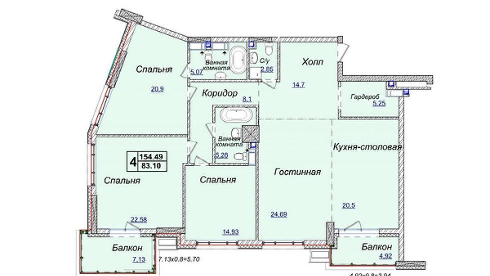 Купить 4-комнатную квартиру ЖК Новопечерские Липки