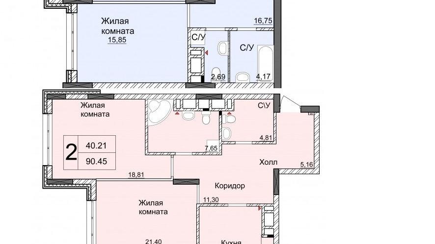 Продажа четырехконатной квартиры без ремонта ЖК Новопечерские Липки