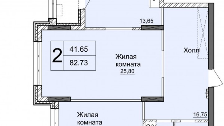Продажа двухкомнатной квартиры без ремонта ЖК Новопечерские Липки