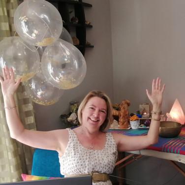 Fiona van Rensburg Celebrating with clients online