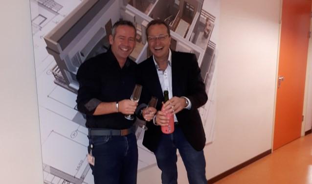 Michel van den Burg en Geert Robben