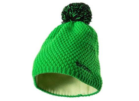 Wintermütze/Bommelmütze, Grün