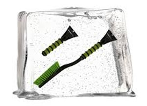 ŠKODA Eiskratzer mit Schneebesen 60 cm grün