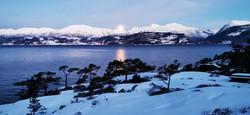 Mælsheia Herand a winters night