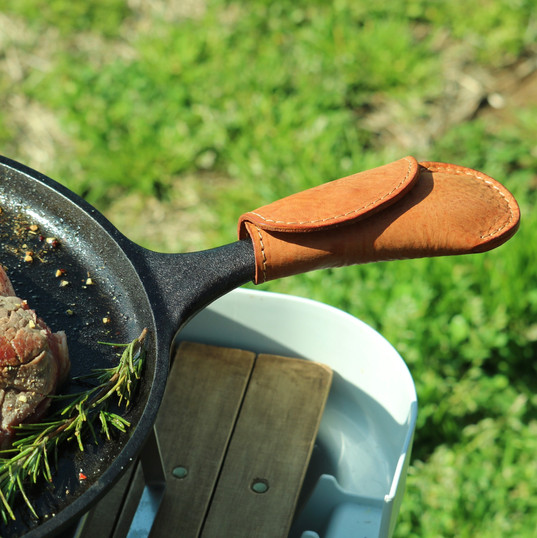Lodge Grill pan Leather Handle Cover