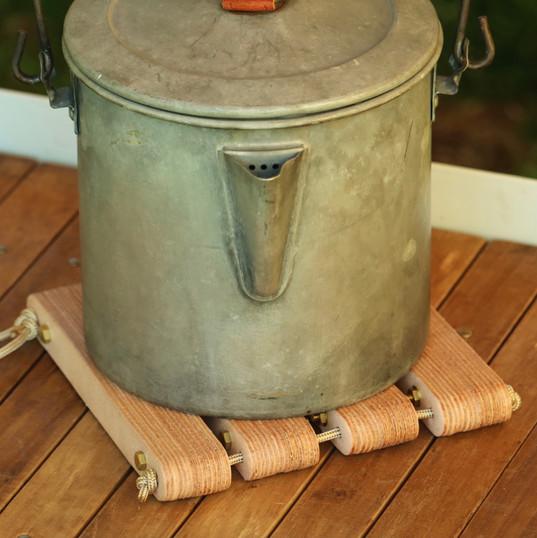 Laminated Leather Pot