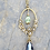 Thumbnail: Suffragette Inspired Antique Gold Flower Drop Necklace