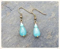 Teal semi-precious earrings