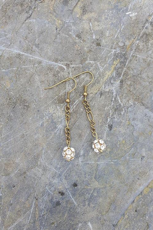 Dragonfly Crystal Drop Earrings