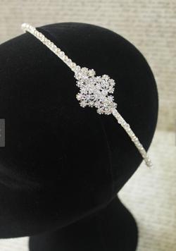 Isabelle Diamante Flwer Headband