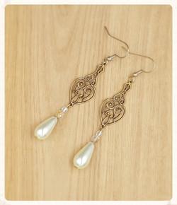 Art Nouveau style Swarovski Pearl an