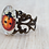 Thumbnail: Ladybird Filigree Brass Ring