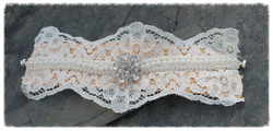 Lace and diamante focal cuff