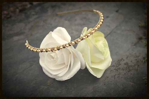 Swarovski Champagne Golden Goddess Headband