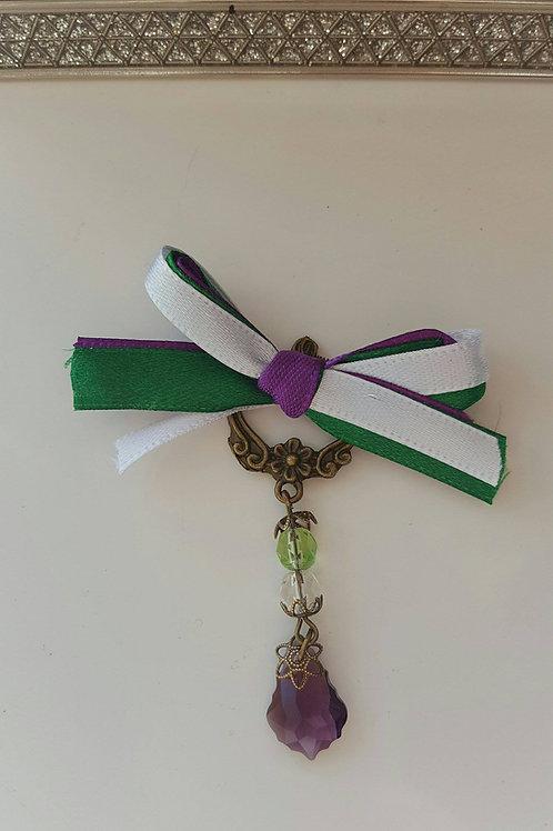 Suffragette Ribbon bronze brooch