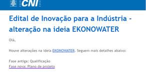 EkonoWater começa a montar o plano de projeto para o Programa de Inovação CNI.