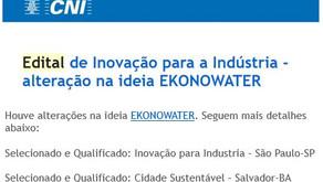 EkonoWater dá dois passos importantes em dois processos do Edital de Inovação para a Industria.
