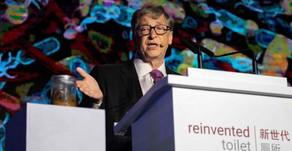 Bill Gates exibe nova tecnologia sanitária onde já gastou mais de 200 milhões de dólares.