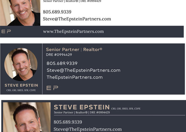 Variations of a potential New Email Footer Design