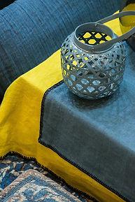 Textile nappe set de table Harmony Lin lavé