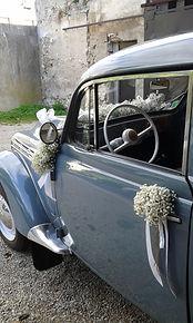 Décoration voiture mariage 77 Crécy La chapelle